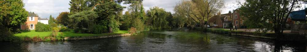 A panoramic view of The River Test
